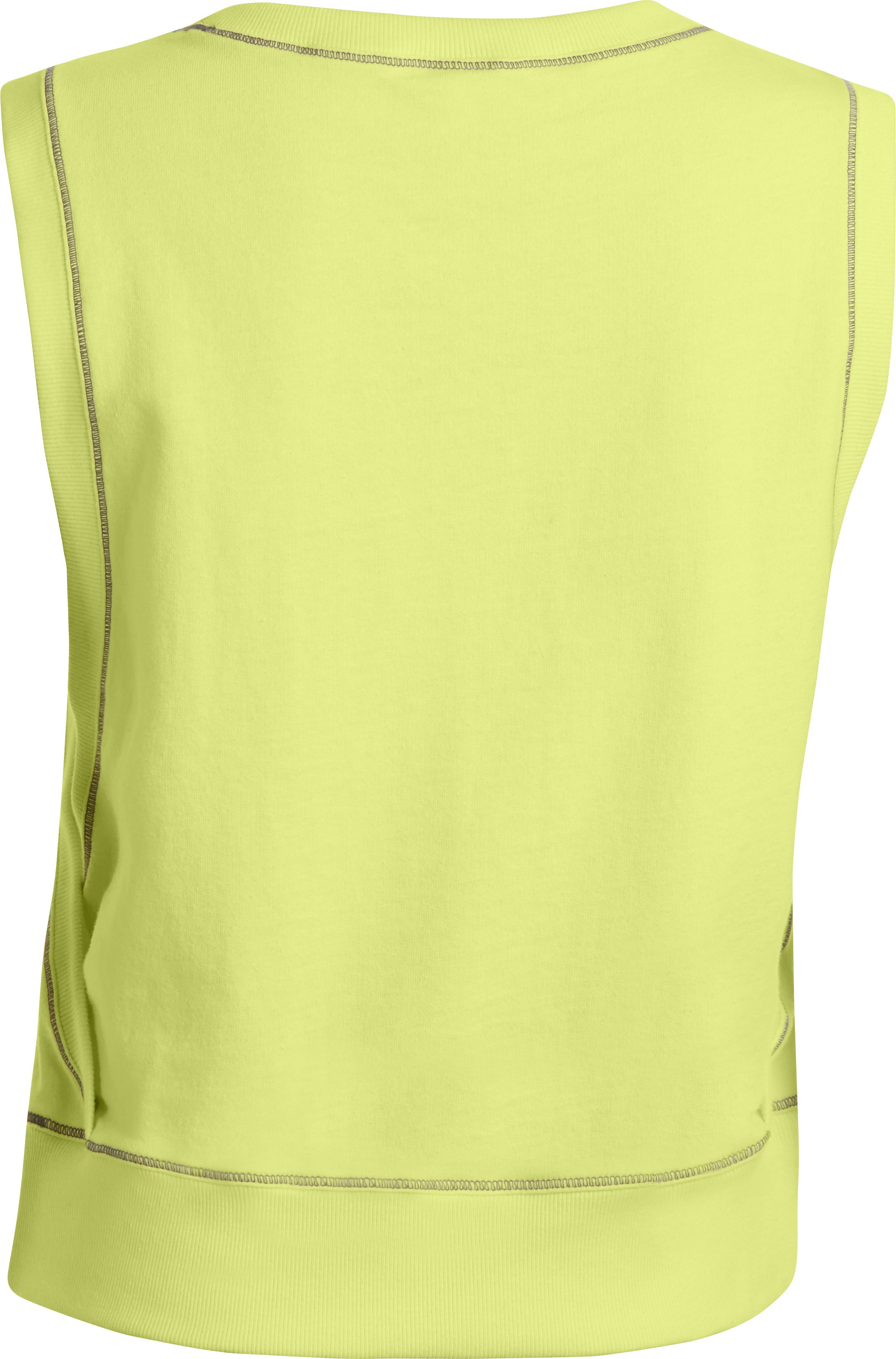 Women's UA Pretty Gritty French Terry Vest, SONIC YELLOW