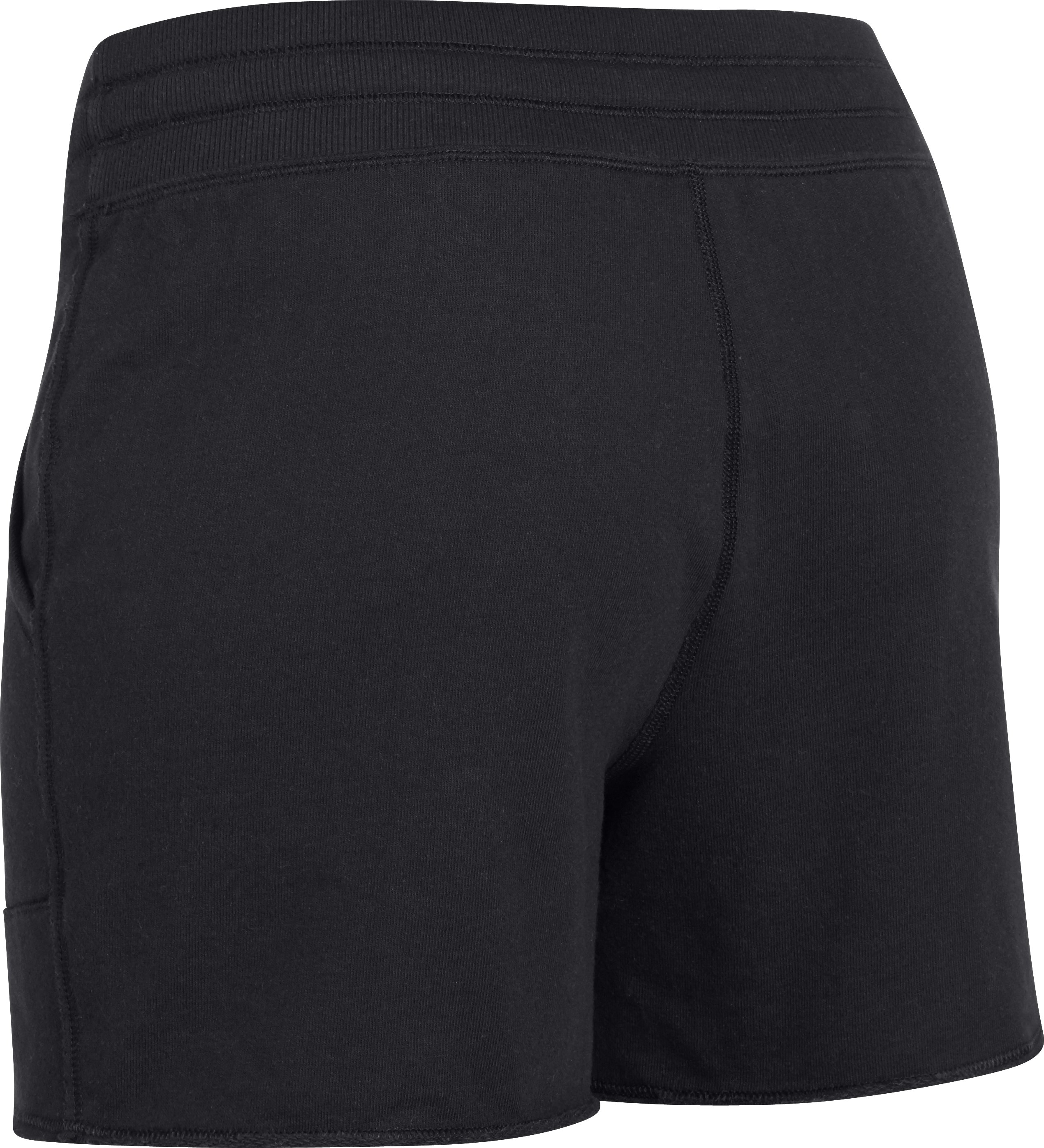 "Women's UA Pretty Gritty 4"" French Terry Shorts, Black"