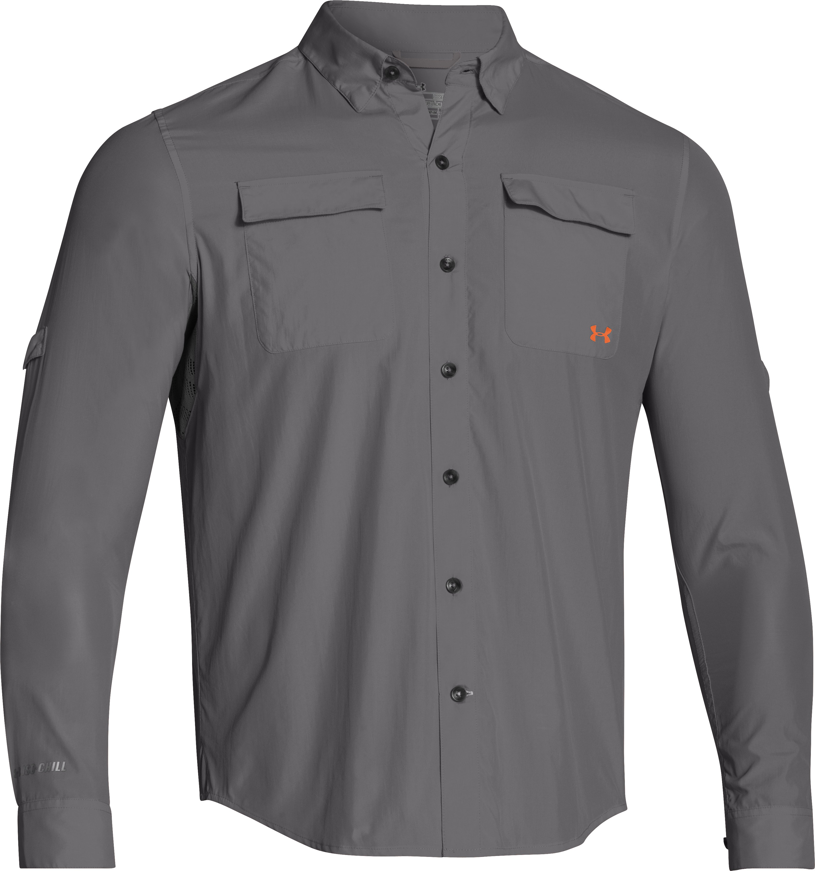 Men's UA Iso-Chill Flats Guide Long Sleeve Shirt, Graphite