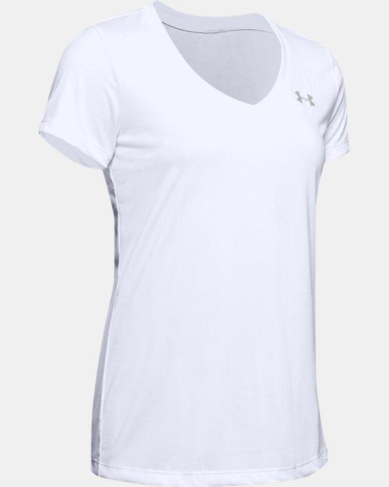 Women's UA Tech™ V-Neck, White, pdpMainDesktop image number 6