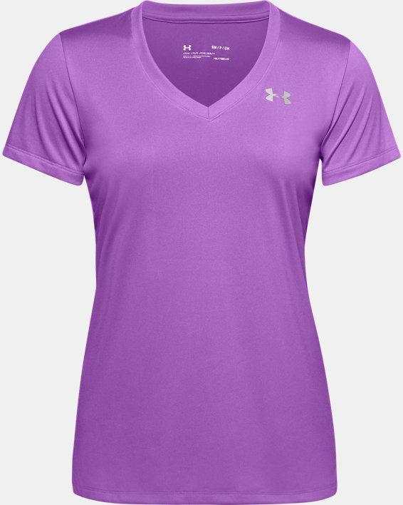 T-shirt en V UA Tech™ pour femme, Purple, pdpMainDesktop image number 4