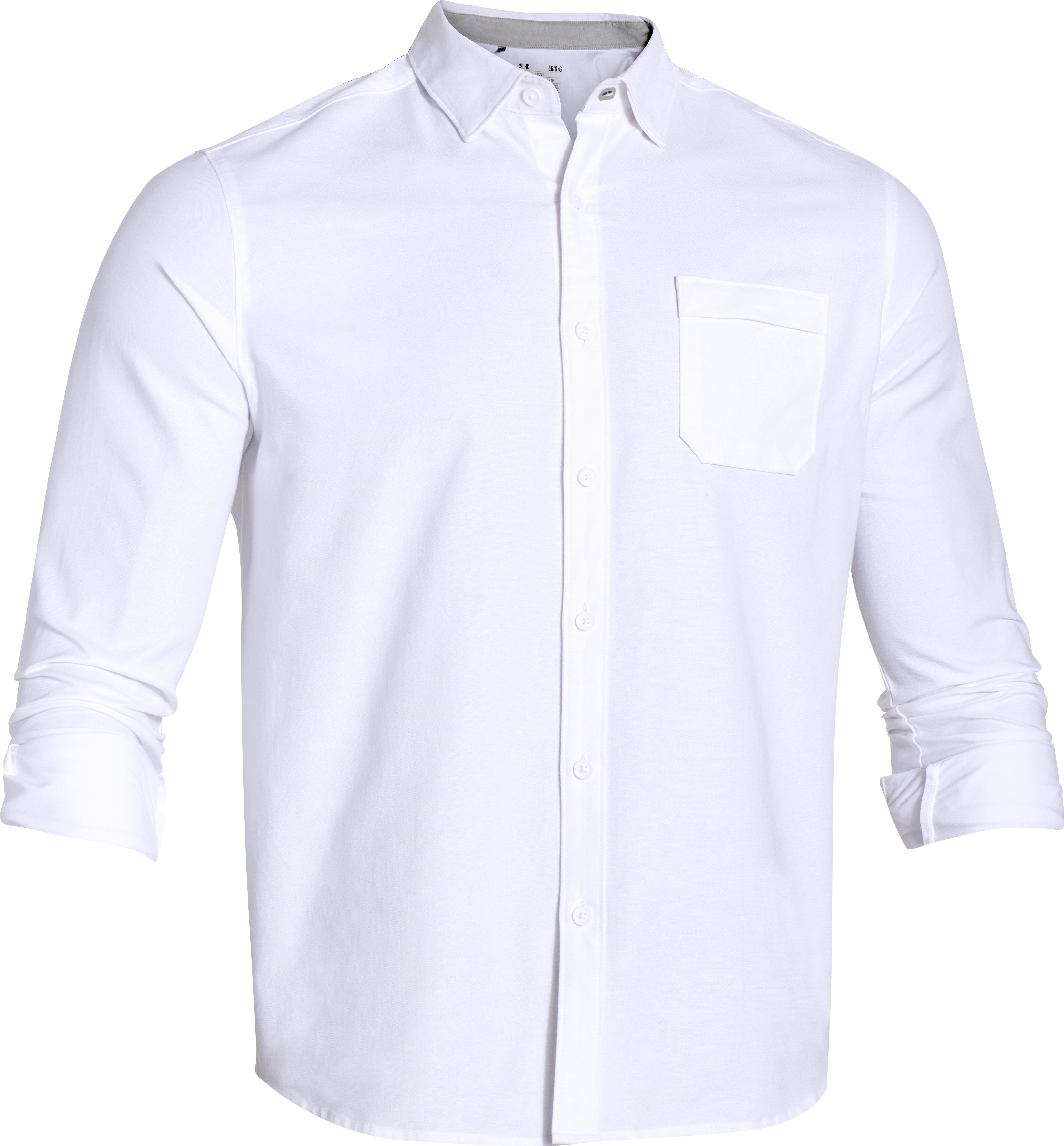 Men's UA Performance Oxford Shirt, White, undefined