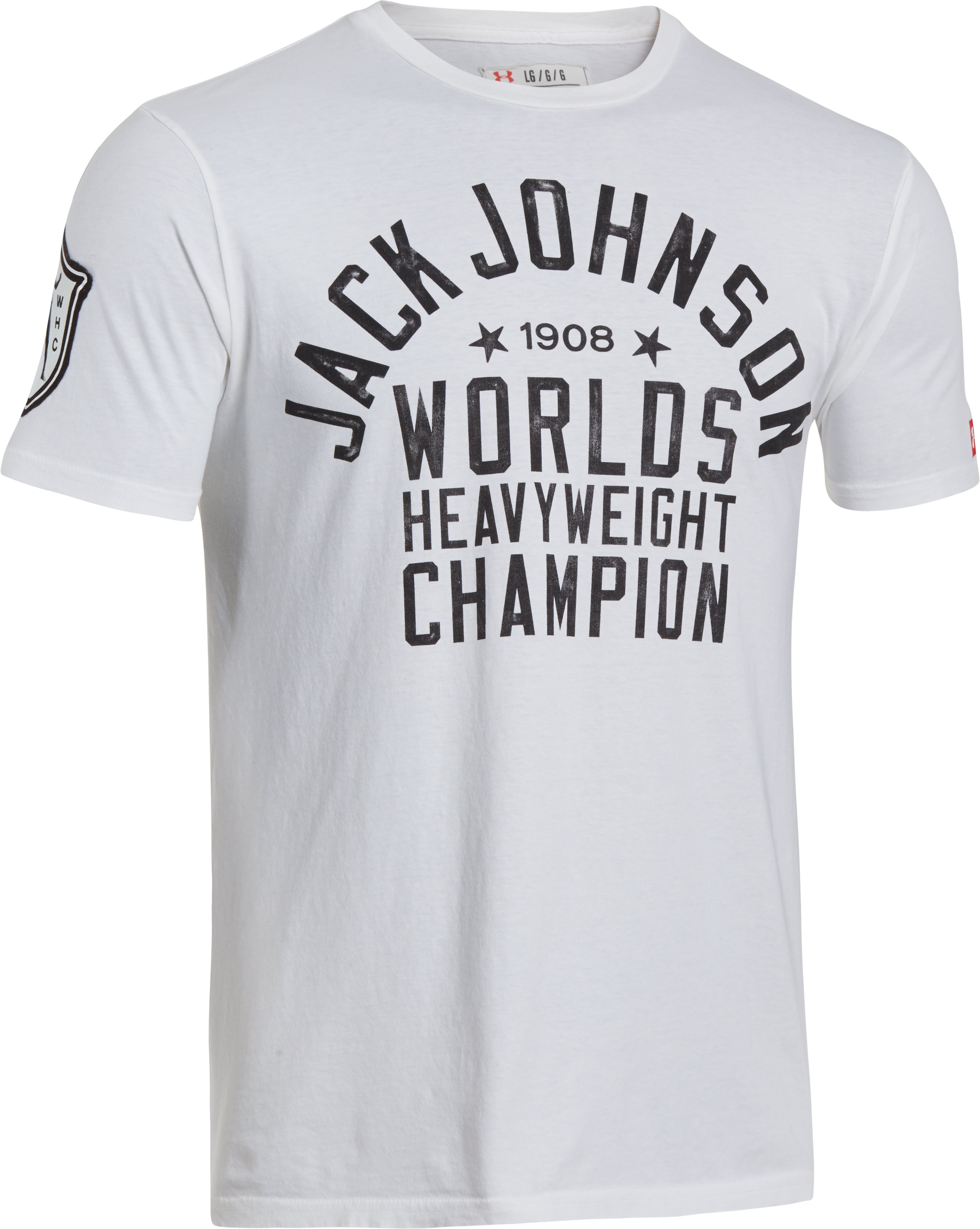 Men's Roots Of Fight™ Jack Johnson T-Shirt, White, undefined