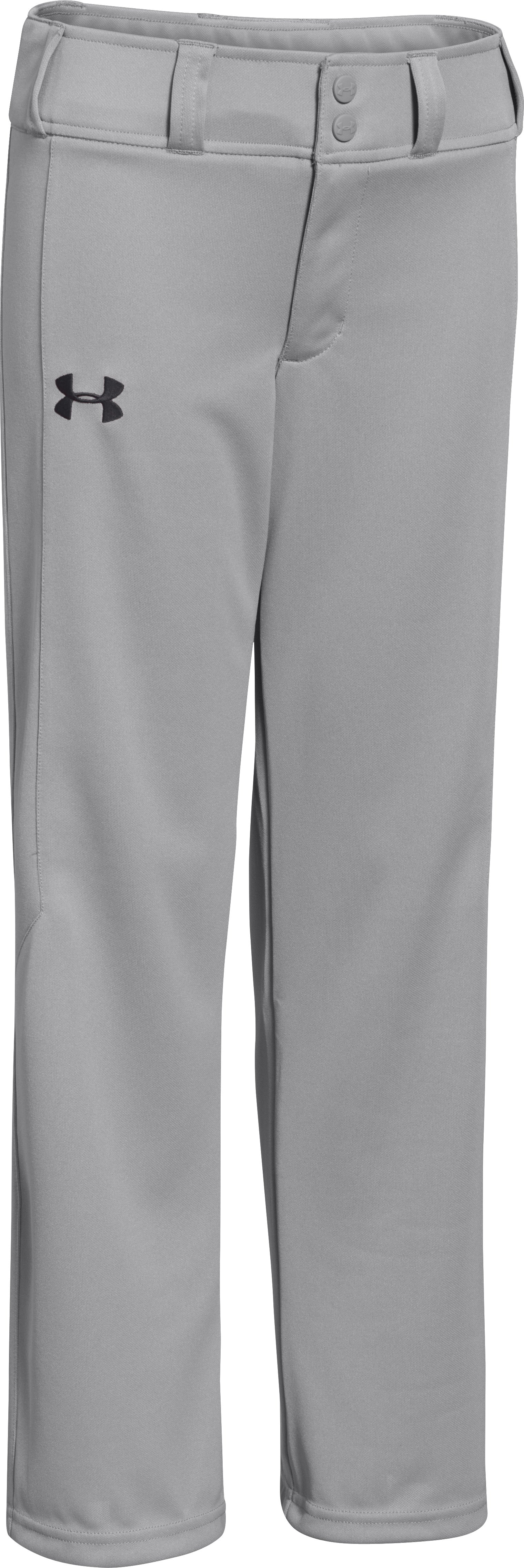 Boys' UA Undeniable Script Baseball Pants, Baseball Gray