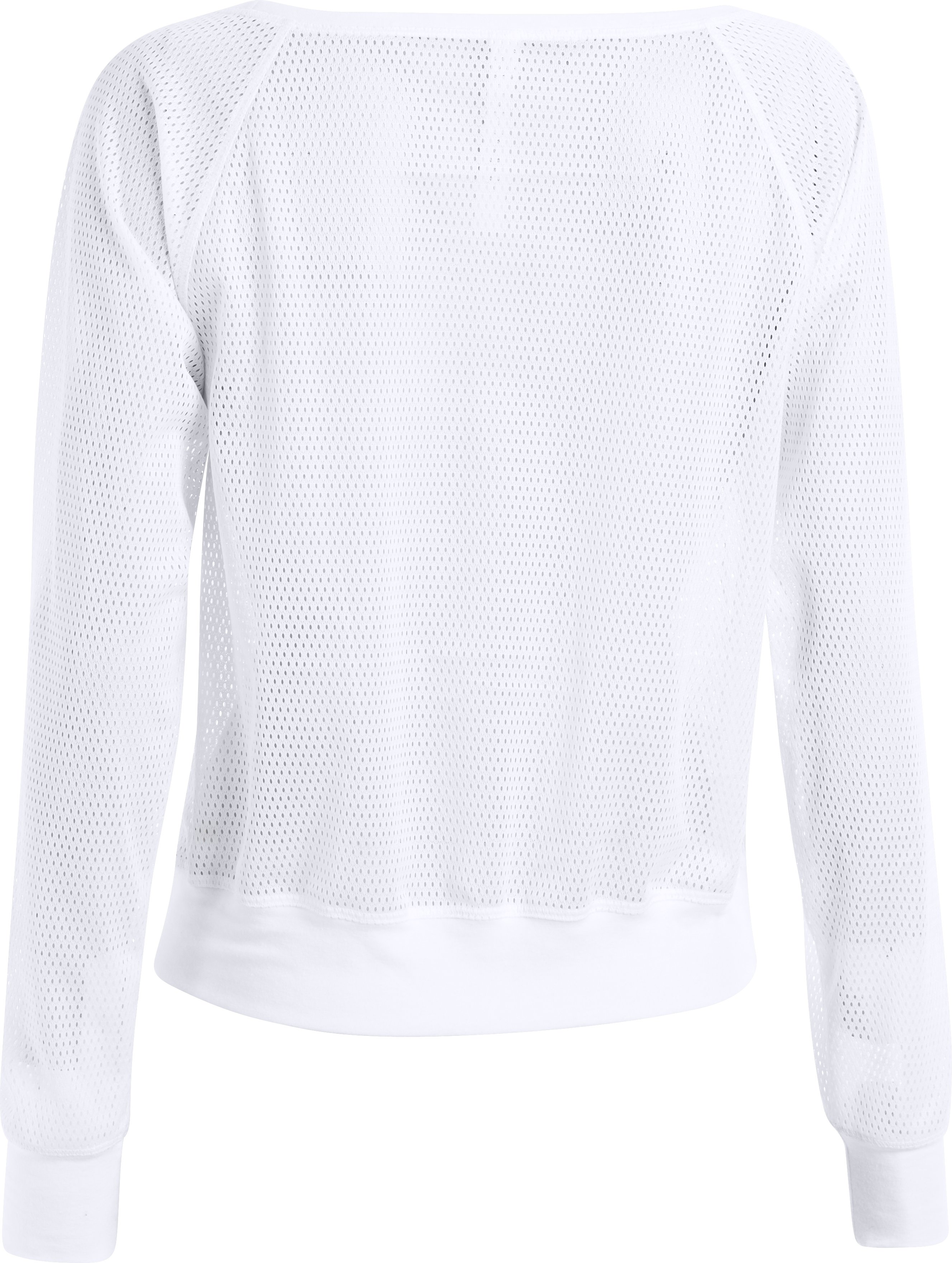 Women's UA Pretty Gritty Mesh Sweatshirt, White