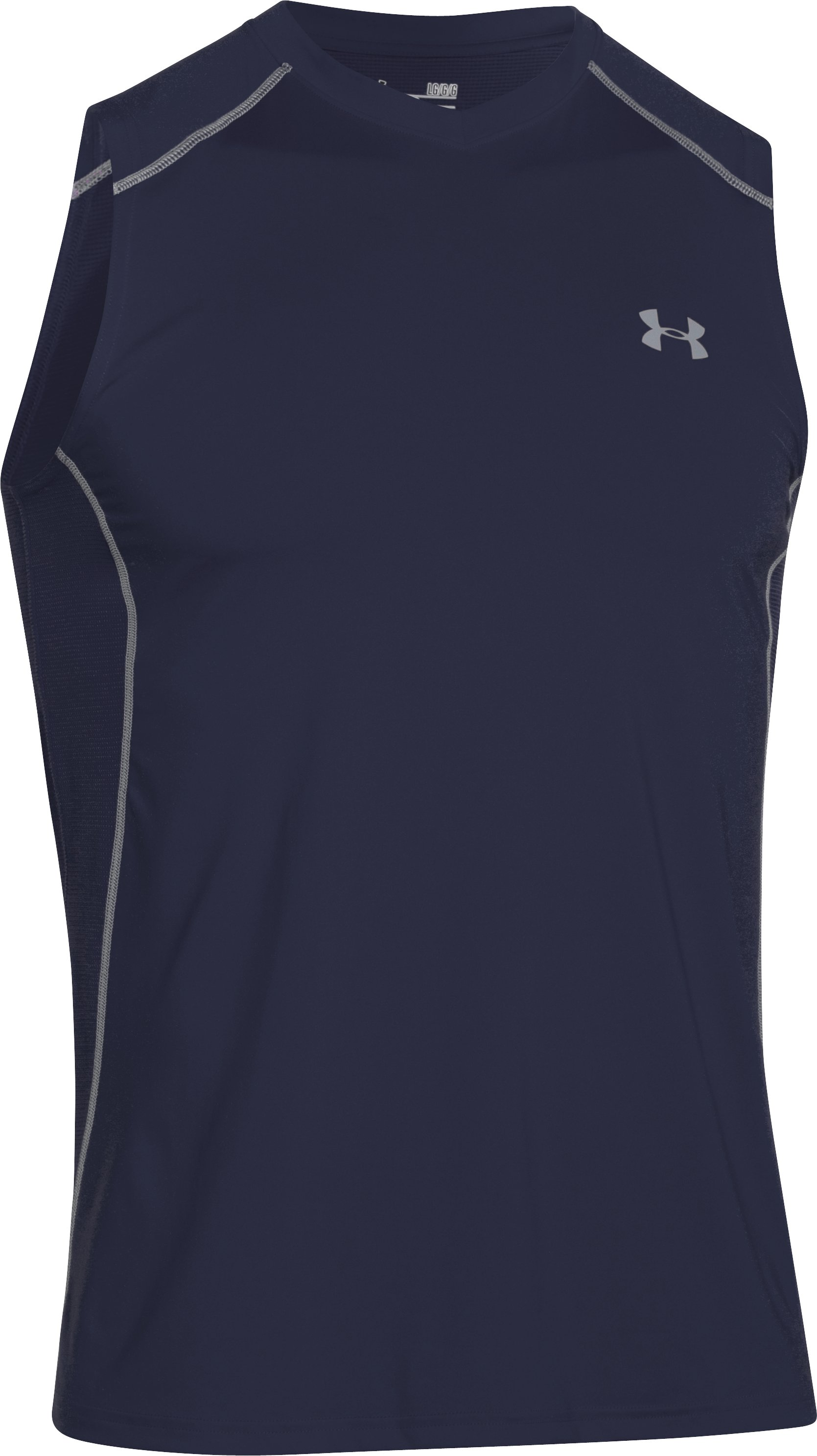 Men's UA Raid Sleeveless T-Shirt, Midnight Navy