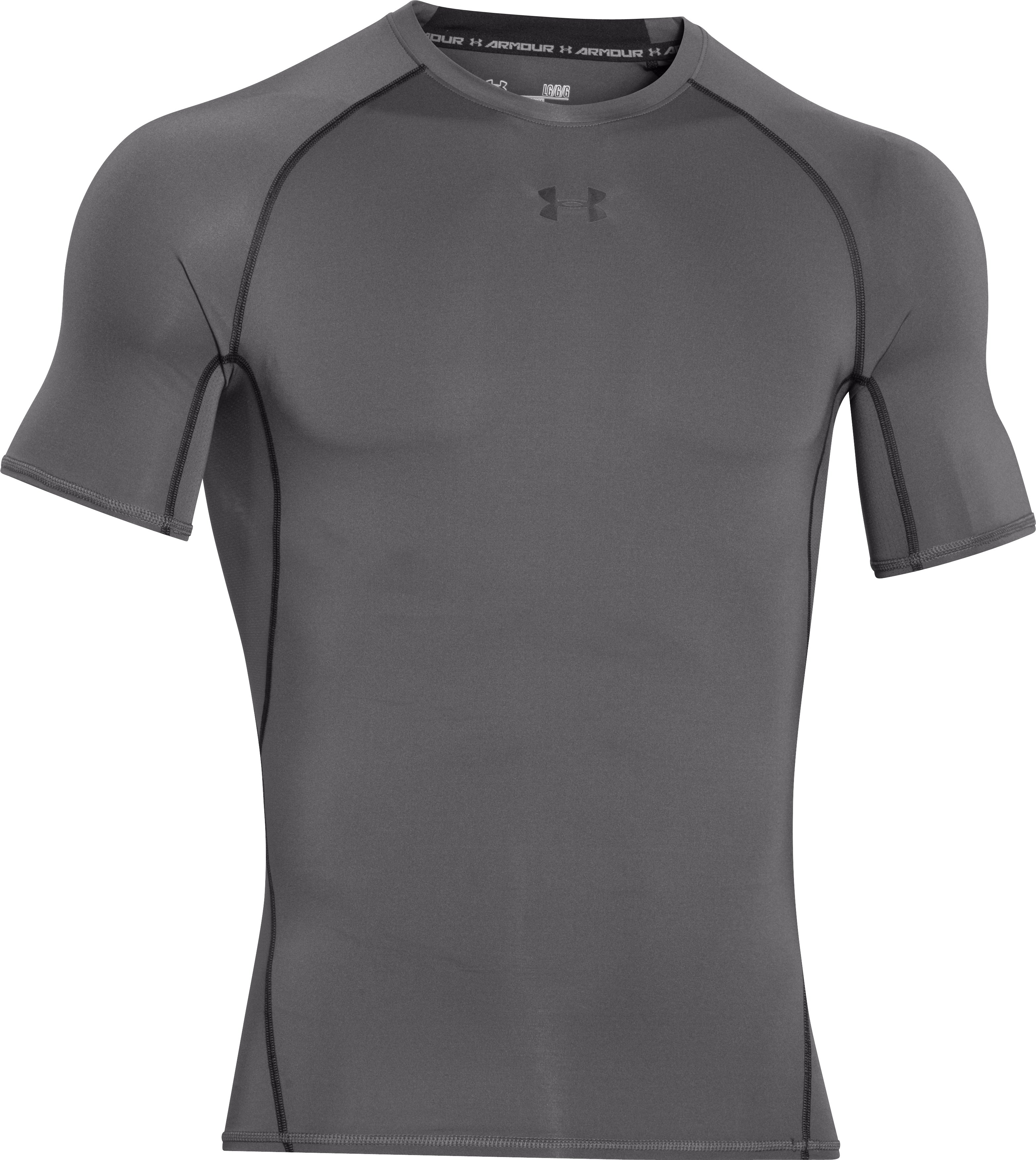 Men's UA HeatGear® Armour Short Sleeve Compression Shirt, Graphite, undefined