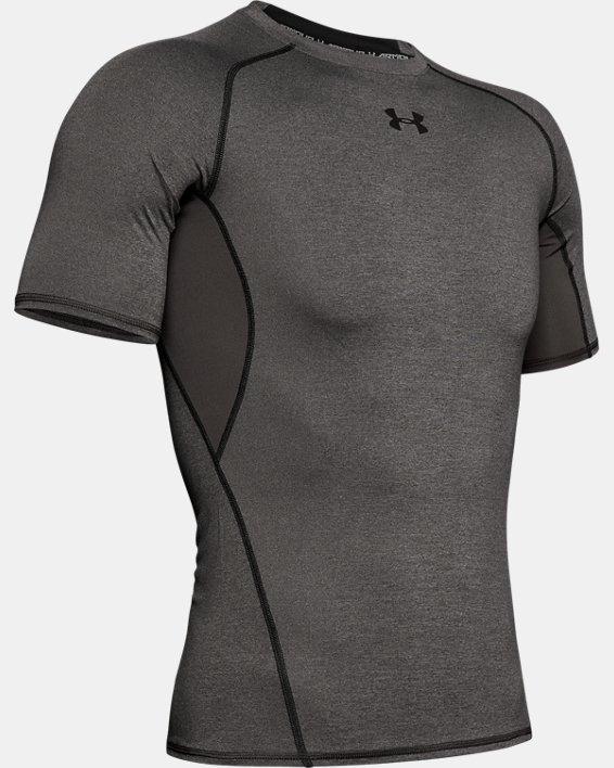 T-shirt Compression UA HeatGear® Armour à manches courtes pour homme, Gray, pdpMainDesktop image number 4