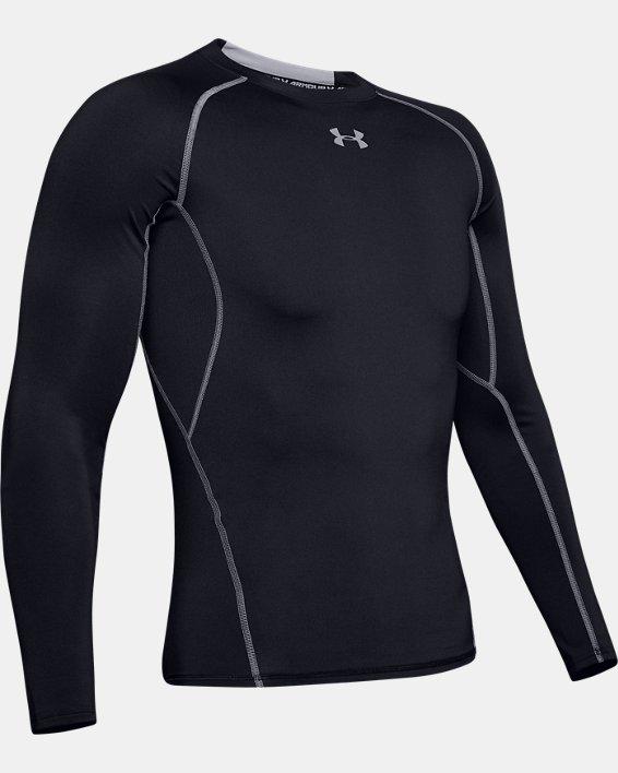 T-shirt de compression à manches longues UA HeatGear® Armour pour homme, Black, pdpMainDesktop image number 5