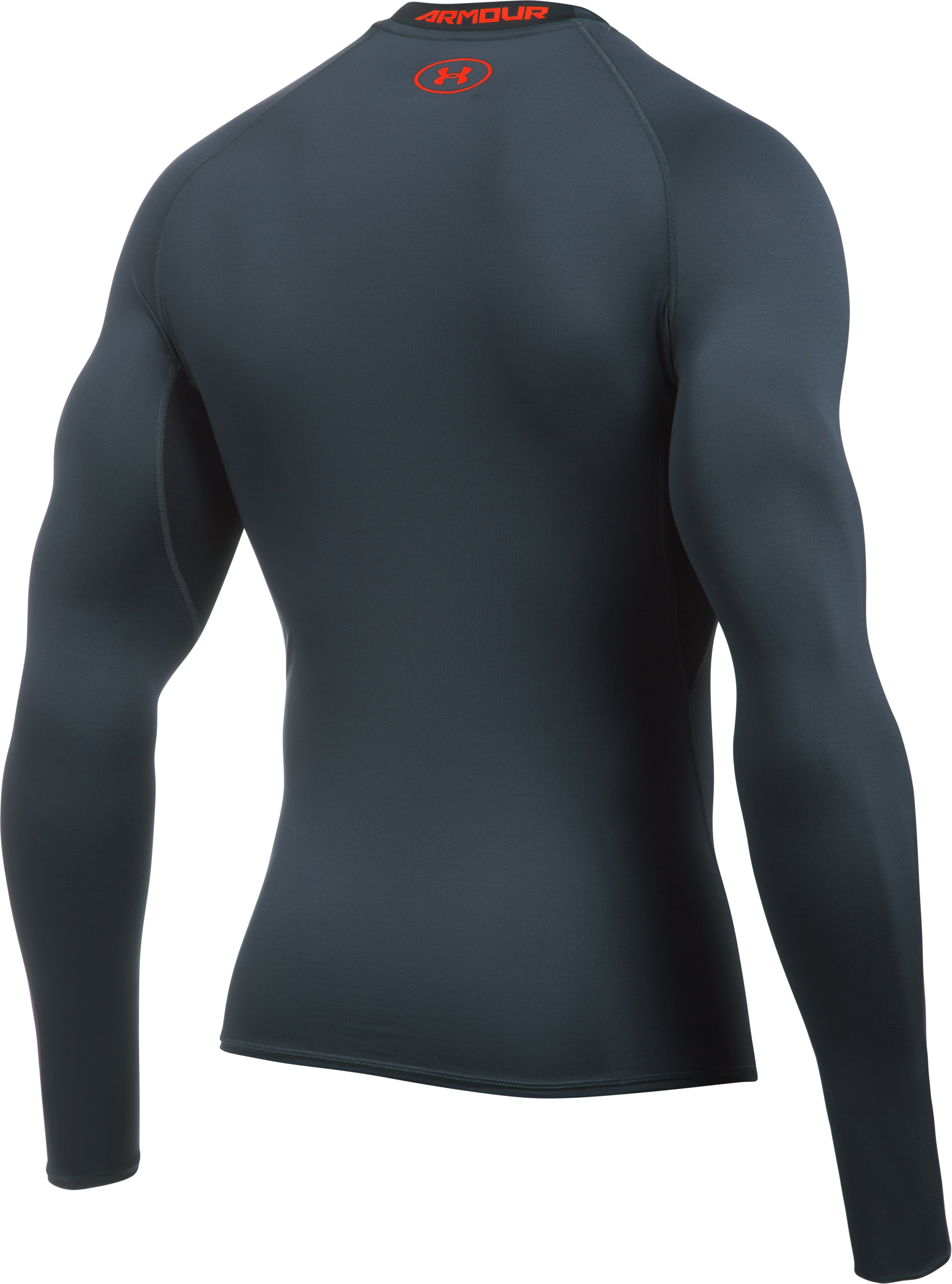Men's UA HeatGear® Armour Long Sleeve Compression Shirt, STEALTH GRAY