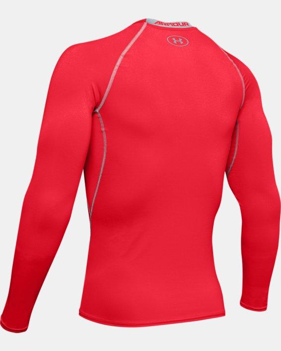 Men's UA HeatGear® Armour Long Sleeve Compression Shirt, Red, pdpMainDesktop image number 7