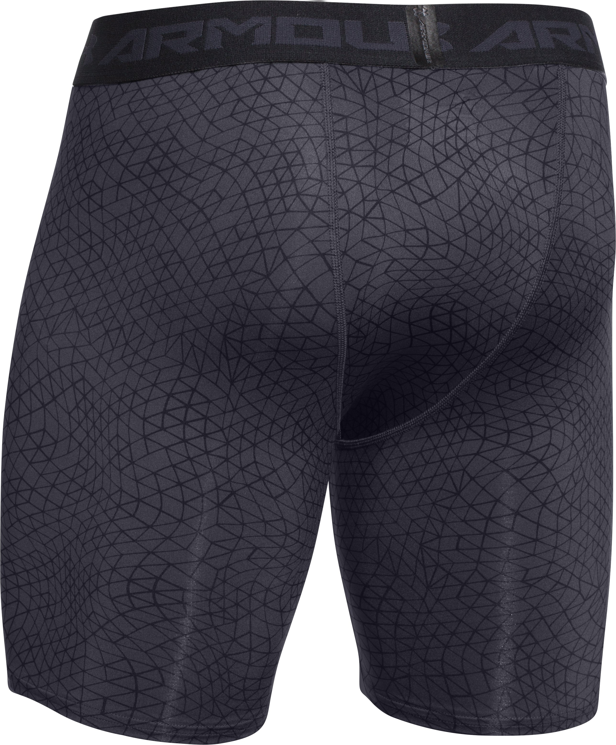 Men's UA HeatGear® Armour Printed Compression Shorts, ROCKET RED, undefined