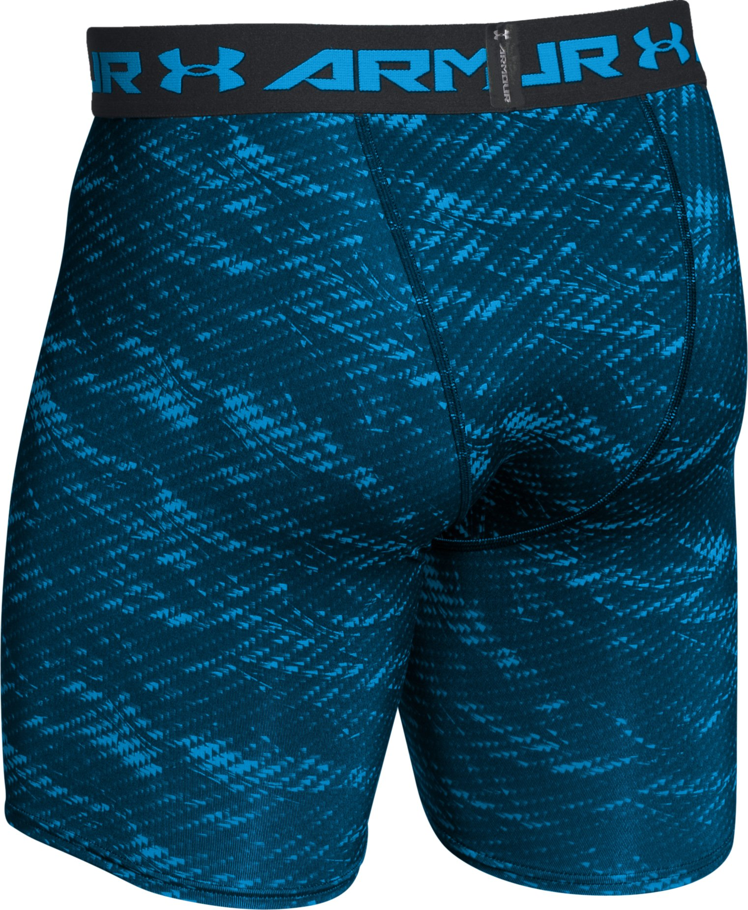 Men's UA HeatGear® Armour Printed Compression Shorts, GREEN MALACHITE