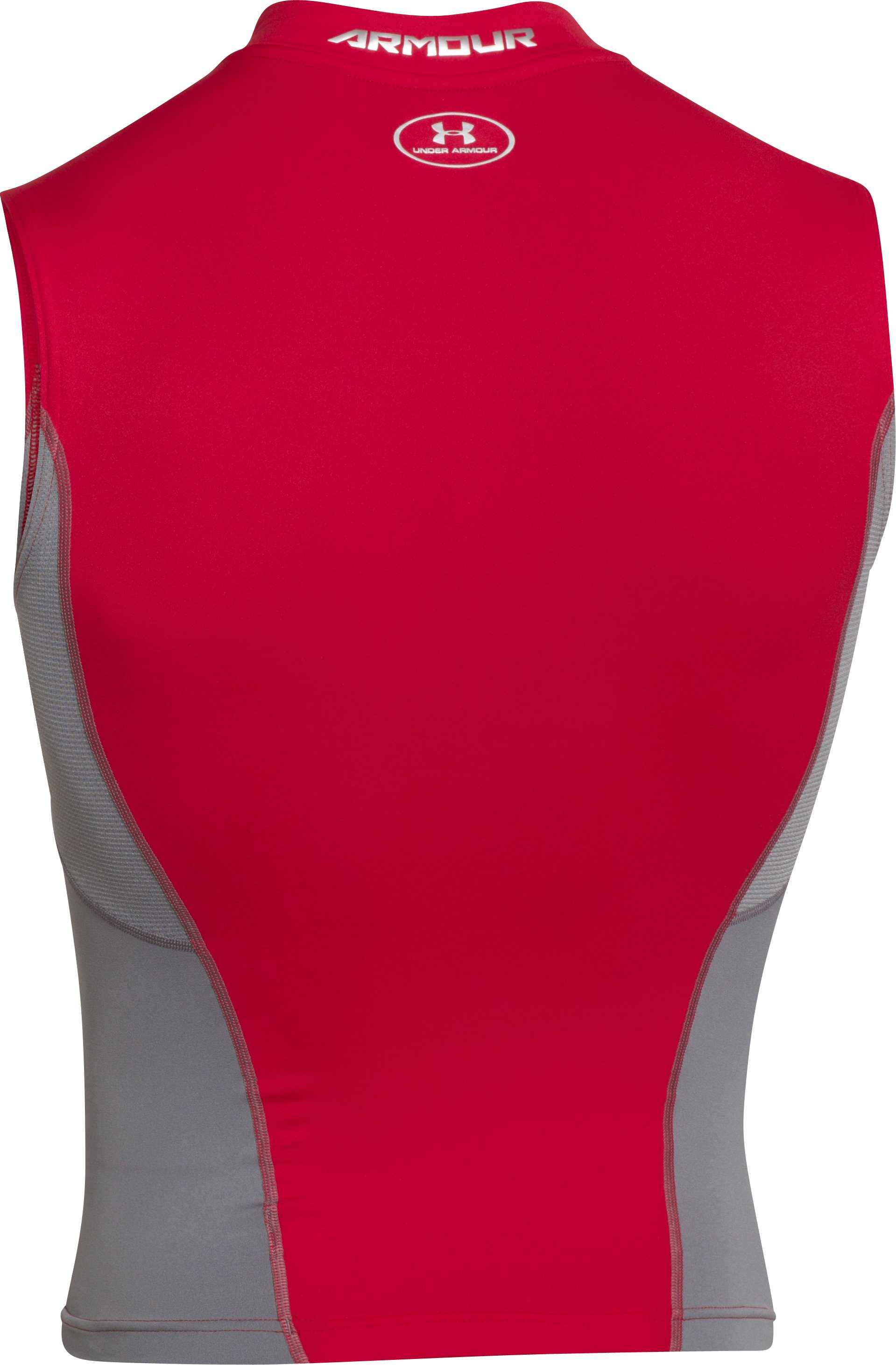 Men's UA HeatGear® Armour® Stretch Sleeveless Compression Shirt, Red