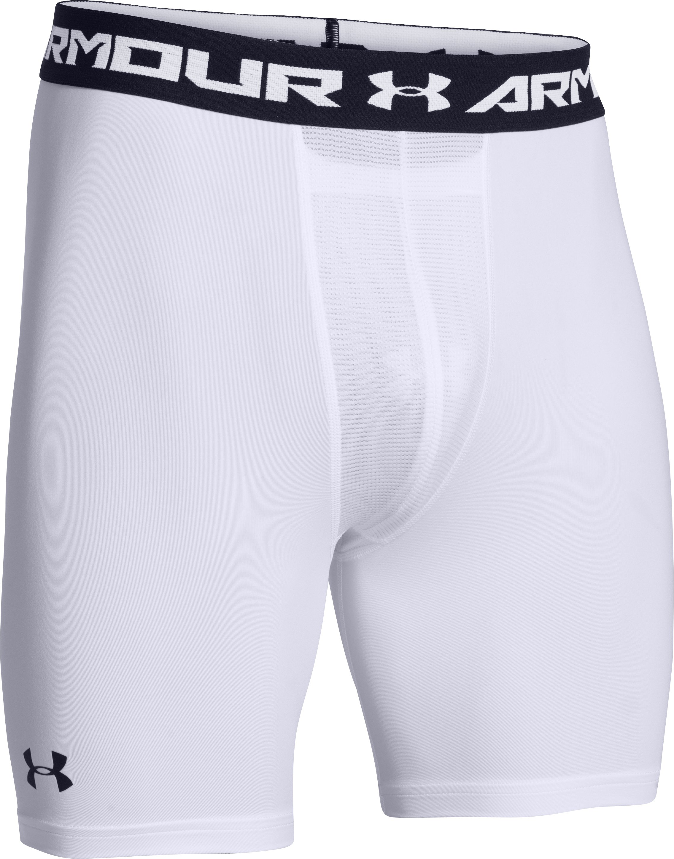 Men's UA HeatGear® Armour Compression Shorts w/ Cup, White