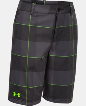 Boys' UA Utility Club Printed Golf Shorts  1 Color $37.99