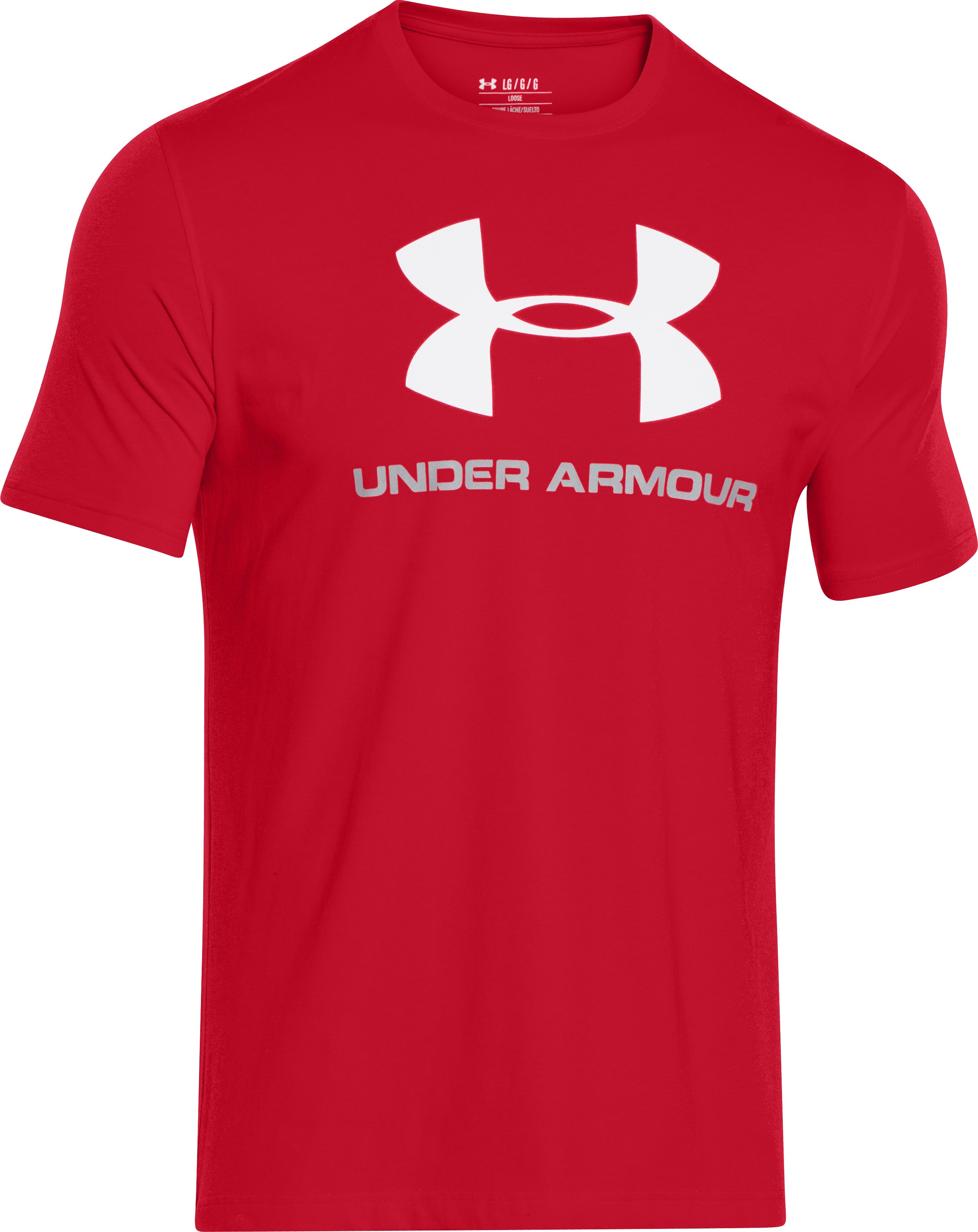 Men's UA Sportstyle Logo T-Shirt, Red, undefined