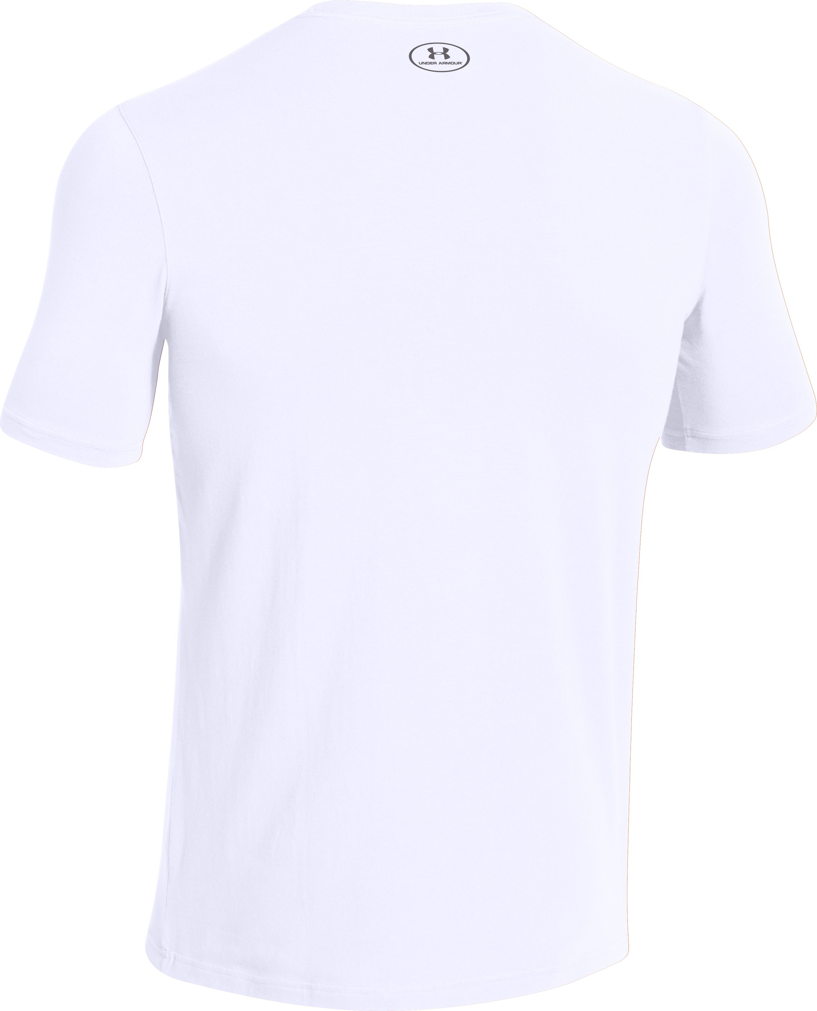 Men's UA Charged Cotton® Left Chest Lockup T-Shirt, White, undefined