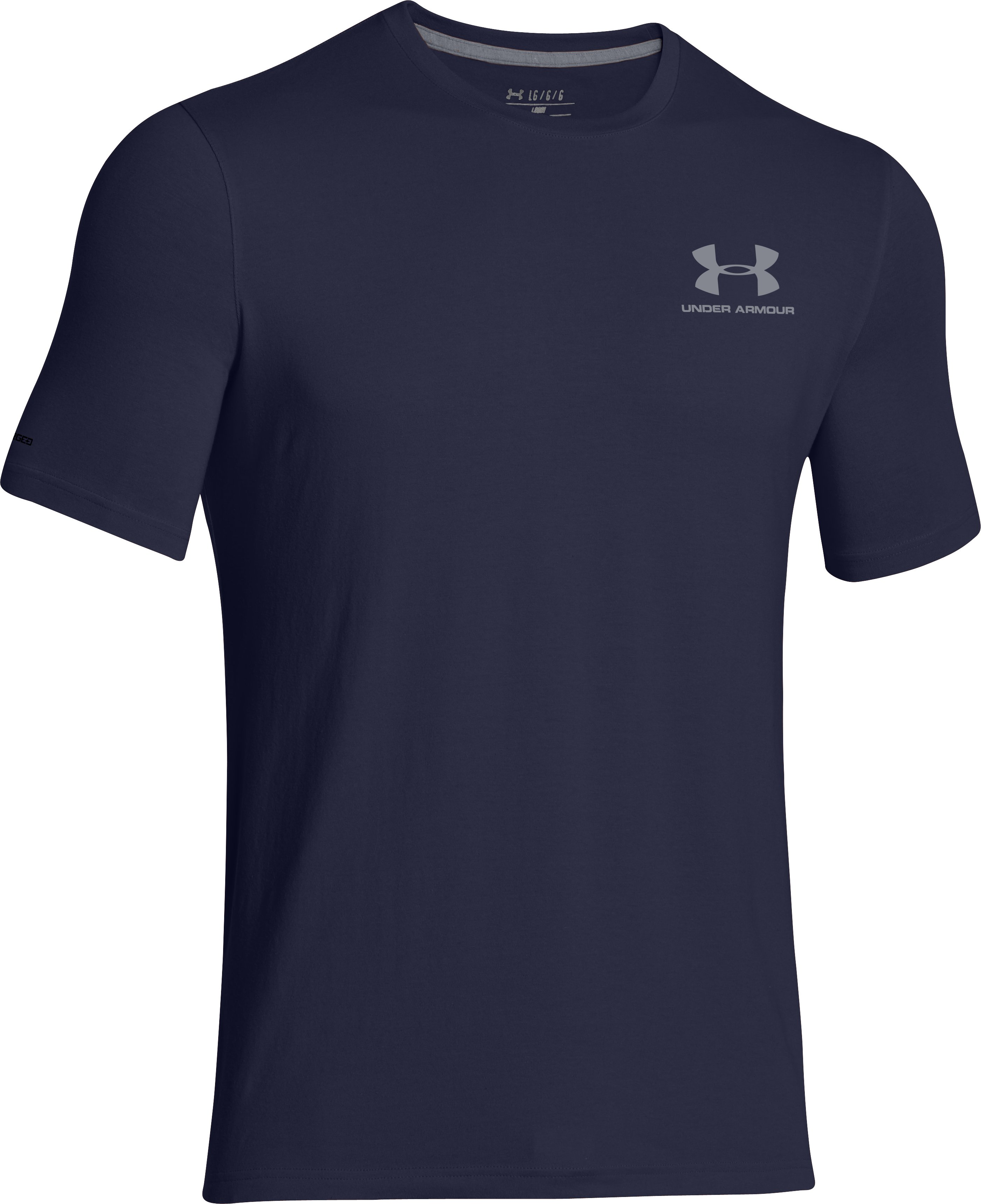 Men's UA Charged Cotton® Left Chest Lockup T-Shirt, Midnight Navy, undefined