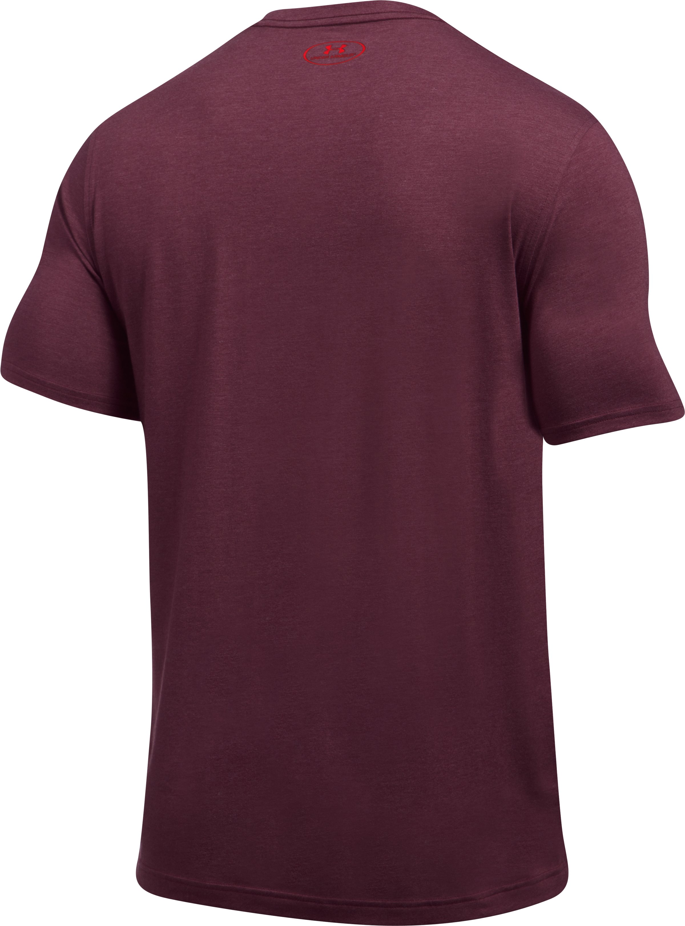 Men's UA Charged Cotton® Left Chest Lockup T-Shirt, RAISIN RED, undefined