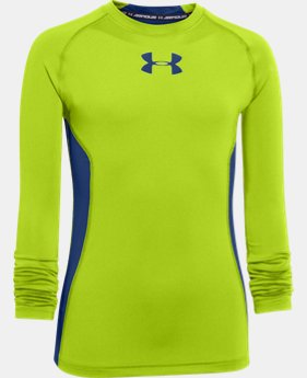 Boys' UA HeatGear® Armour Up Long Sleeve Fitted Shirt  2 Colors $20.99