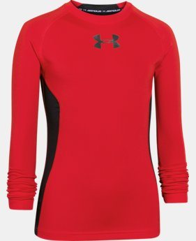 Boys' UA HeatGear® Armour Up Long Sleeve Fitted Shirt  1 Color $15.74 to $20.99