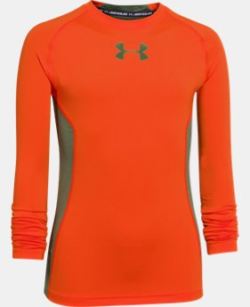 Boys' UA HeatGear® Armour Up Long Sleeve Fitted Shirt   $20.99
