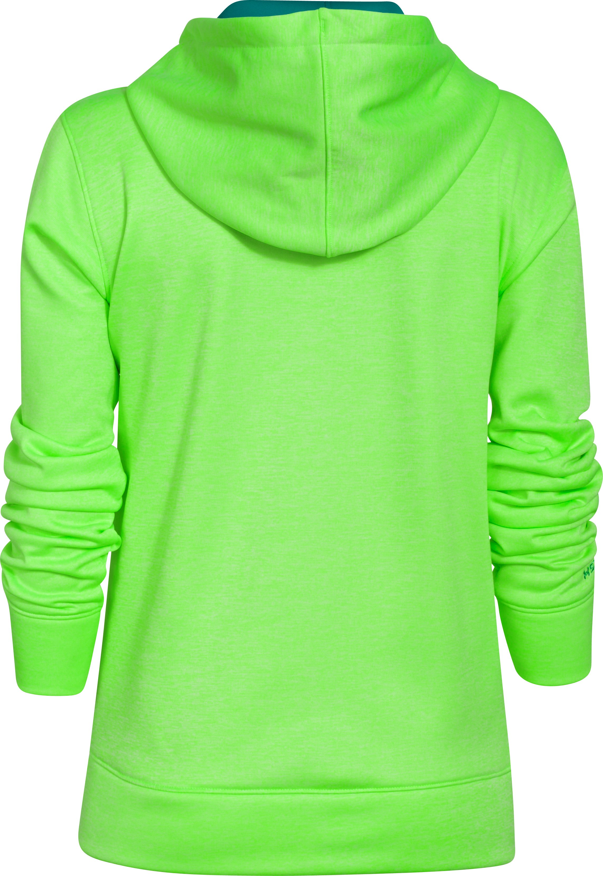 Women's  UA Big Logo Applique Twist Hoodie, HYPER GREEN,