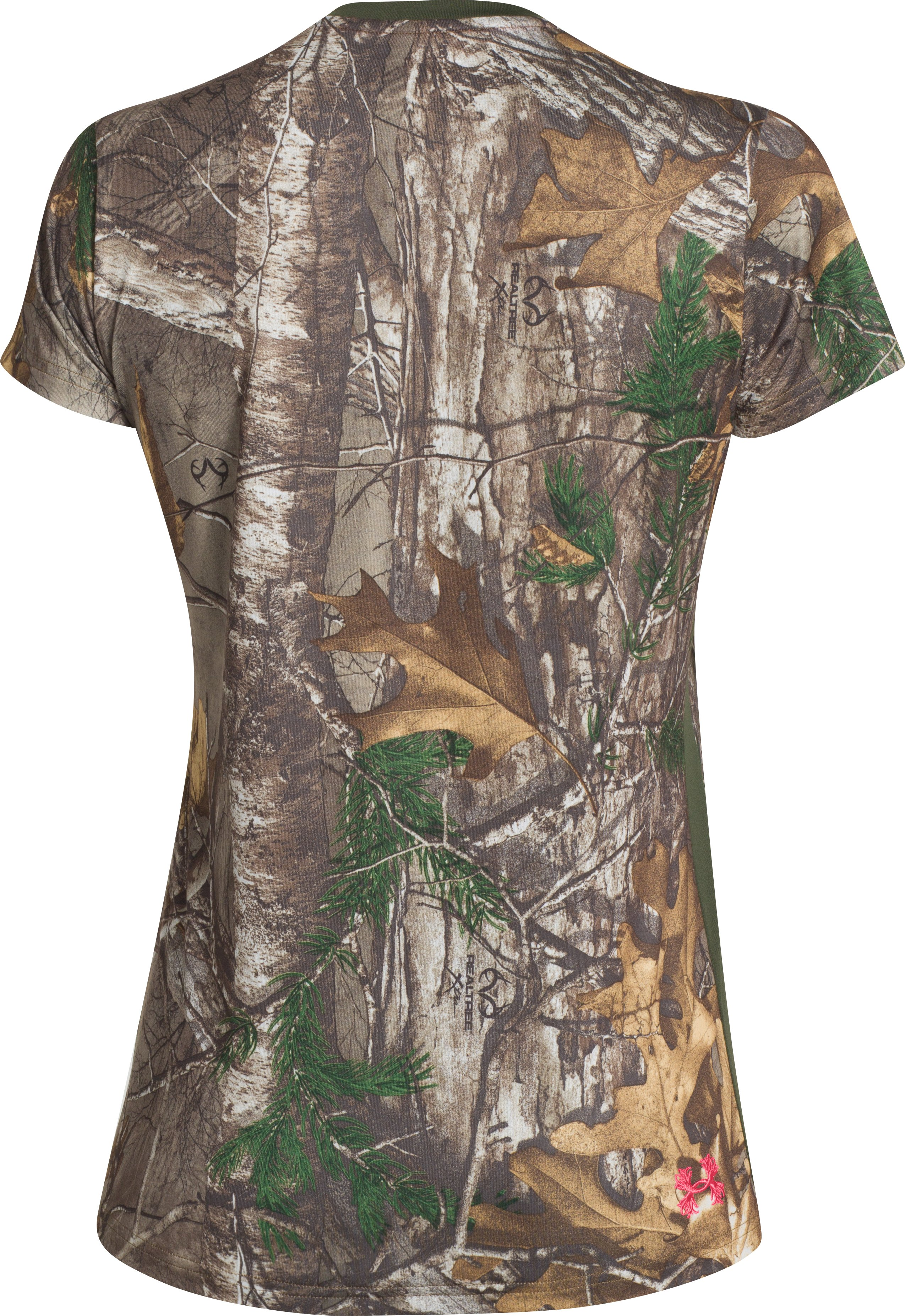 Women's UA Tech Camo Short Sleeve, REALTREE AP-XTRA