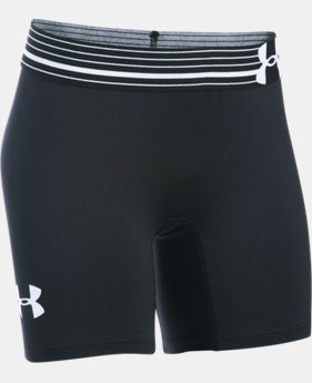 "Girls' UA HeatGear® Armour 5"" Short  1 Color $16.99 to $17.99"