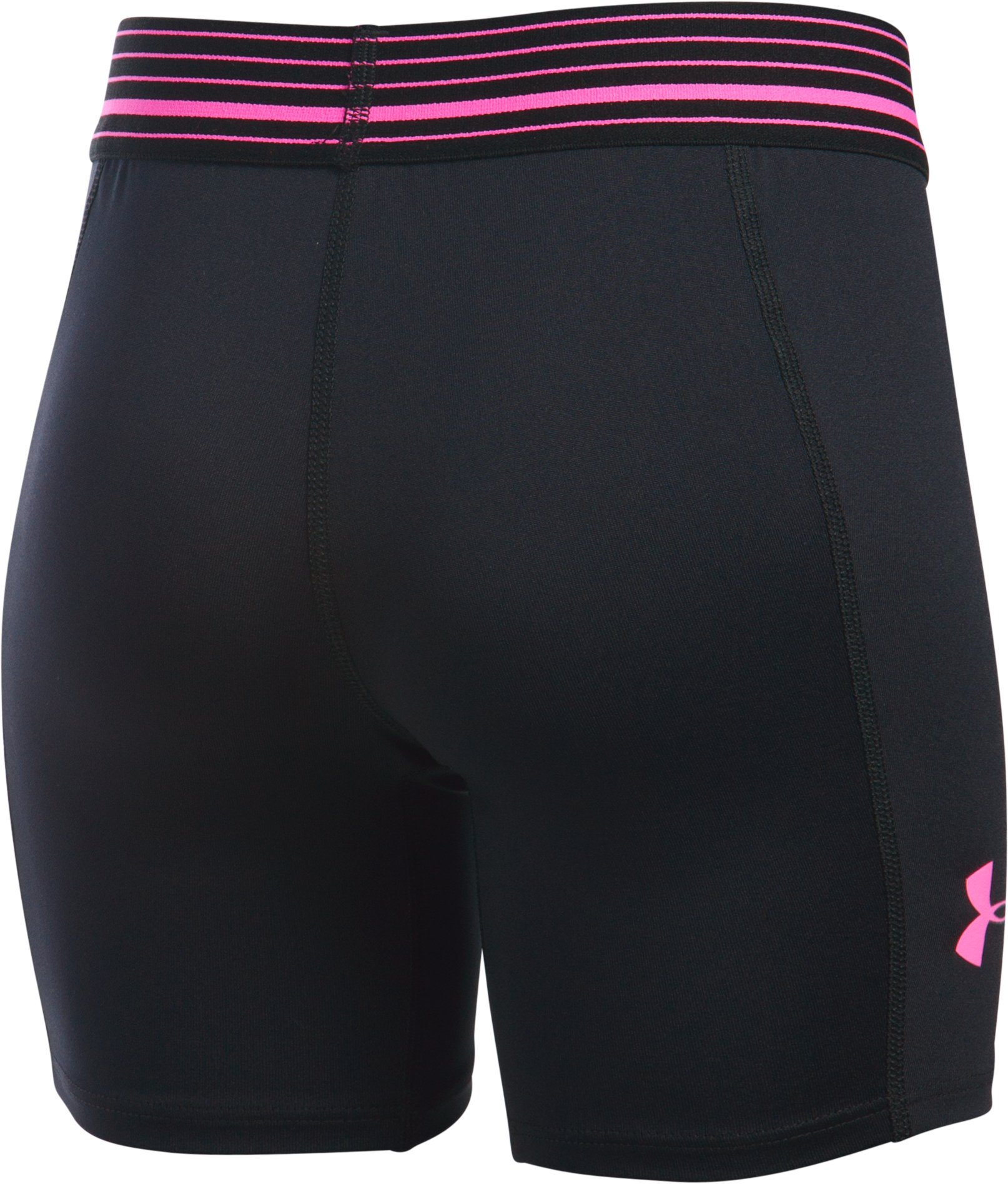"Girls' UA HeatGear® Armour 5"" Short, Black ,"
