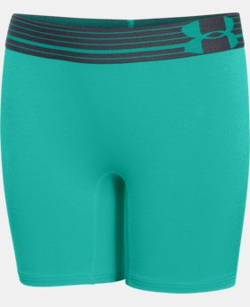"Girls' UA HeatGear® Armour 5"" Short LIMITED TIME: FREE U.S. SHIPPING 1 Color $13.49 to $17.99"