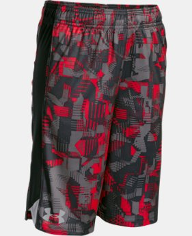 Boys' UA Eliminator Printed Shorts LIMITED TIME: FREE SHIPPING 12 Colors $32.99