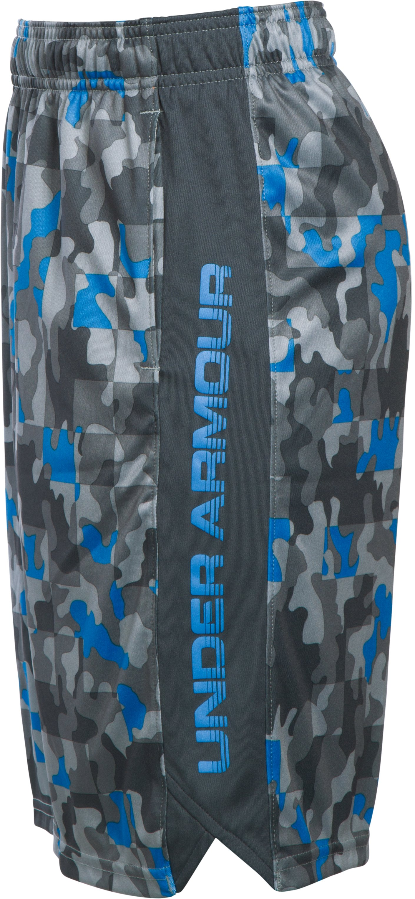 Boys' UA Eliminator Printed Shorts, BRILLIANT BLUE