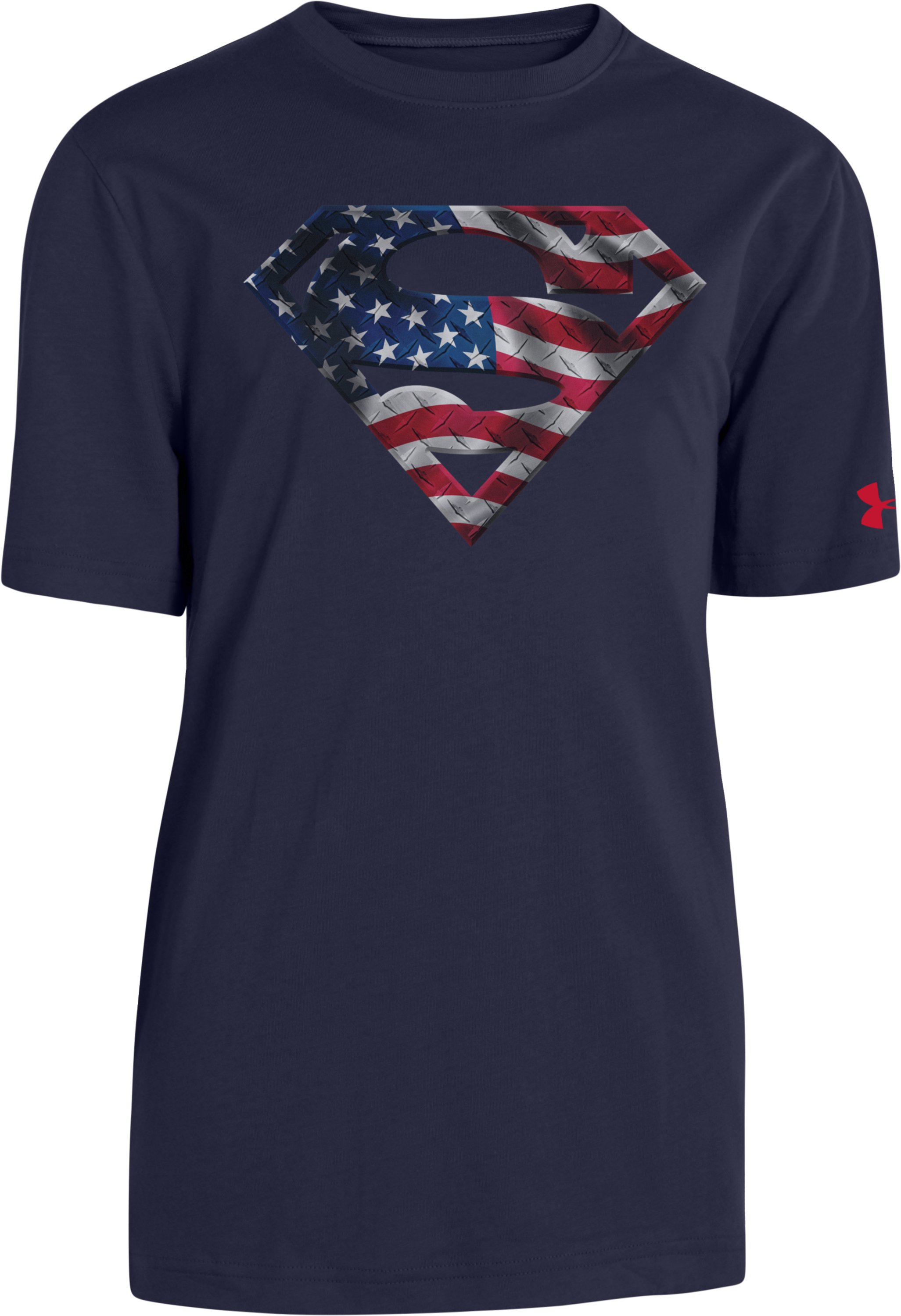 Boys' USA Under Armour® Alter Ego Superman T-Shirt, Midnight Navy, zoomed image