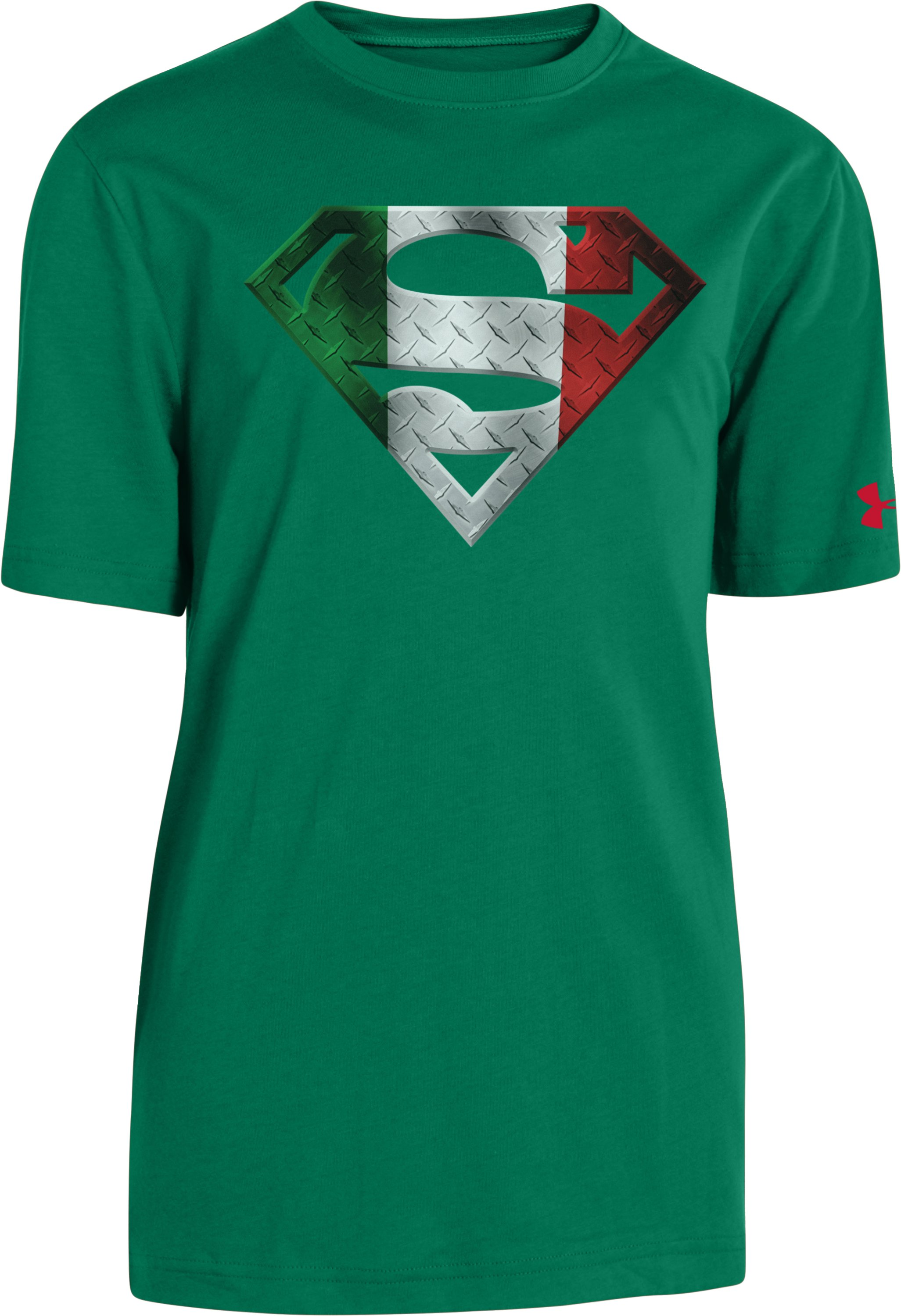 Boys' Mexico Under Armour® Alter Ego Superman T-Shirt, Classic Green, zoomed image