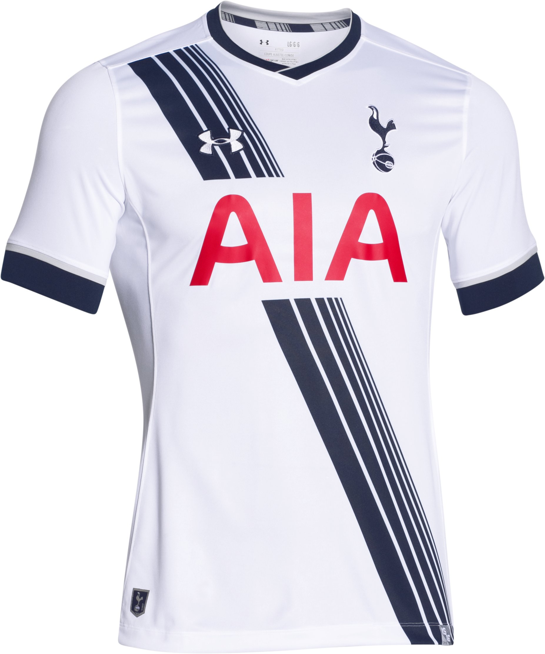 Men's Tottenham Hotspur 15/16 Home Replica Short Sleeve Shirt, White, undefined