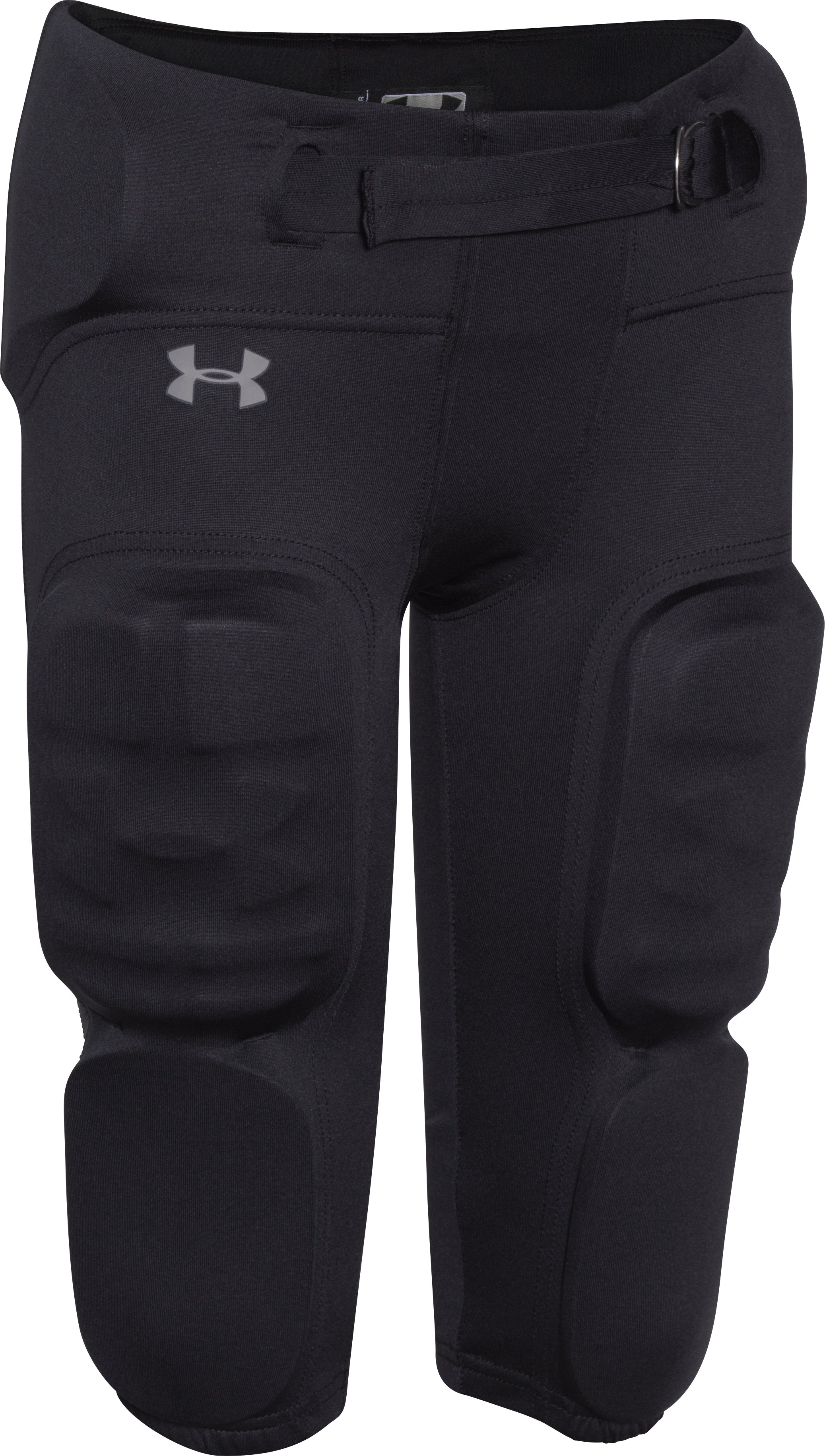 Boys' UA Vented Integrated Football Pants, Black , undefined