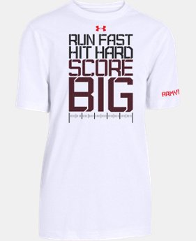 Boys' UA Football Run Hit Score T-Shirt LIMITED TIME: FREE U.S. SHIPPING  $17.99