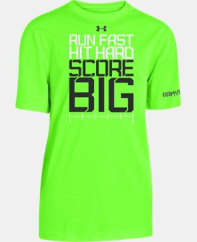 Boys' UA Football Run Hit Score T-Shirt LIMITED TIME: FREE U.S. SHIPPING 1 Color $17.99