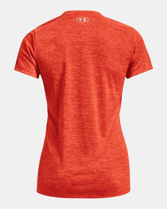 Damen UA Tech™ Oberteil mit Twist-Effekt und V-Ausschnitt, Orange, pdpMainDesktop image number 5