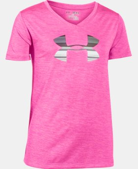 Girls' UA Tech™ Big Logo V-Neck LIMITED TIME: FREE U.S. SHIPPING 4 Colors $11.24 to $18.99