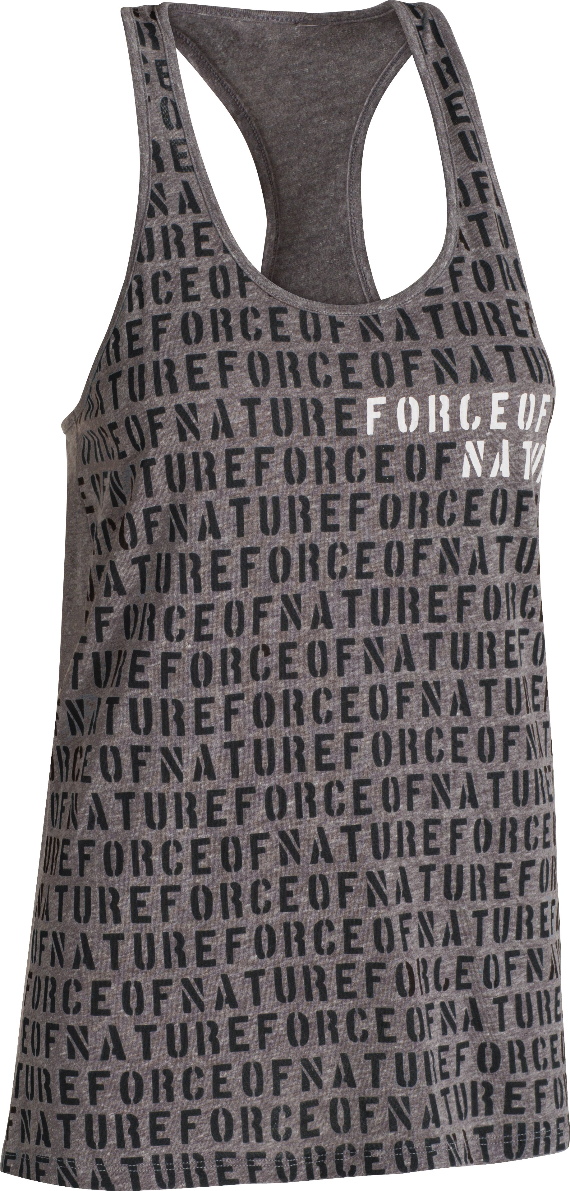 Women's UA Charged Cotton® Tri-Blend Force Of Nature Tank, Carbon Heather, undefined