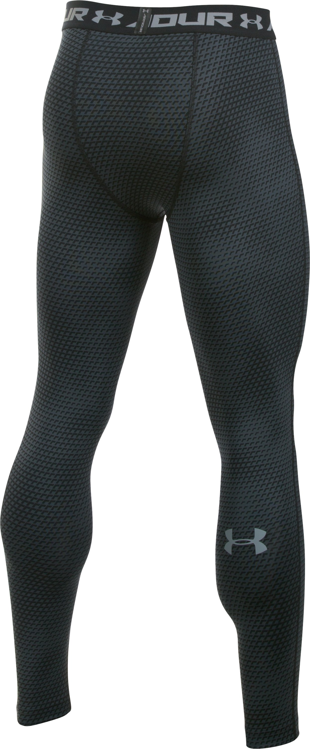 Men's UA HeatGear® Armour Printed Compression Leggings, Black , undefined