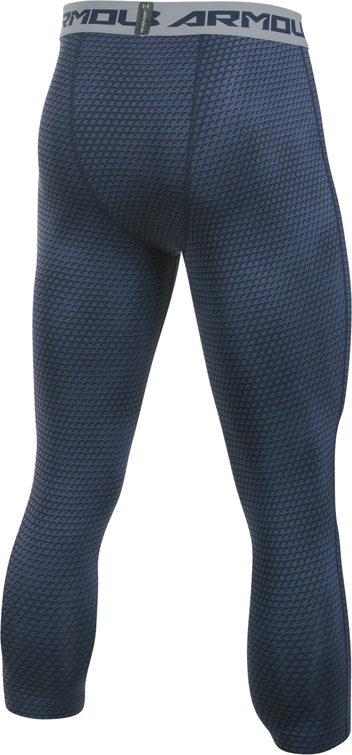 Men's UA HeatGear® Armour Printed ¾ Leggings, Midnight Navy,