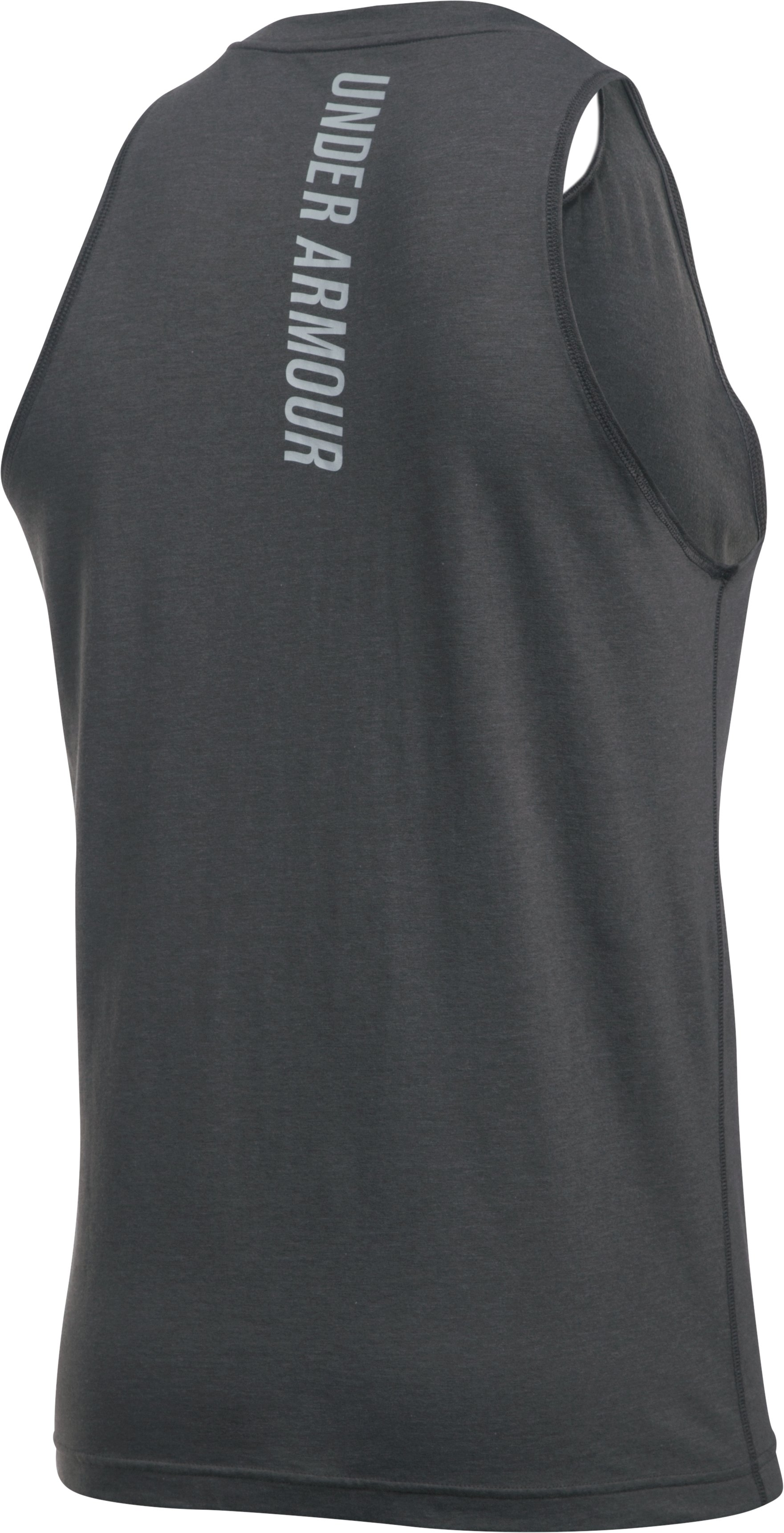 Men's Charged Cotton® Jus Sayin Too Tank, Carbon Heather,