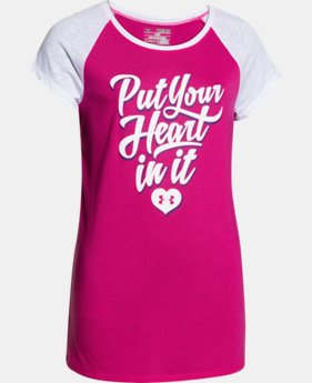 Girls' UA Put Your Heart In It Raglan  1 Color $18.99