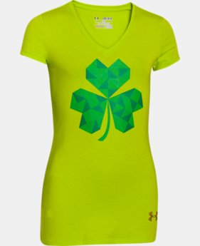 Girls' UA St Pattys Day V-Neck   $14.99