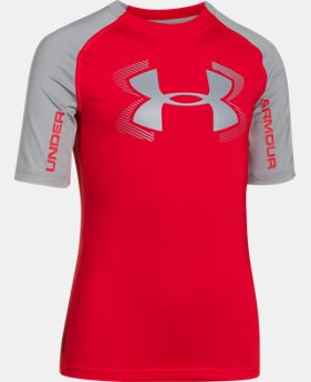 Boys' UA HeatGear® Armour UPF 50 ½ Sleeve LIMITED TIME: FREE U.S. SHIPPING 1 Color $20.99 to $26.99