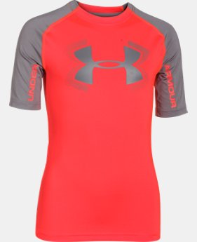 Boys' UA HeatGear® Armour UPF 50 ½ Sleeve  1 Color $15.74